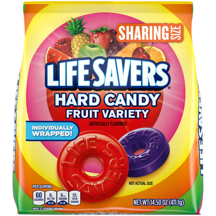Life Savers Fruity Variety Hard Candy, Sharing Size, 14.5oz