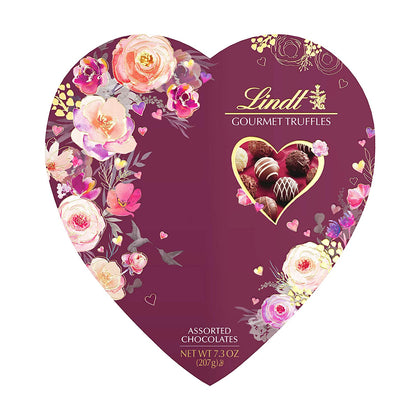 Lindt Valentine's Day Gourmet Truffles Assorted Chocolates Heart, 7.3oz