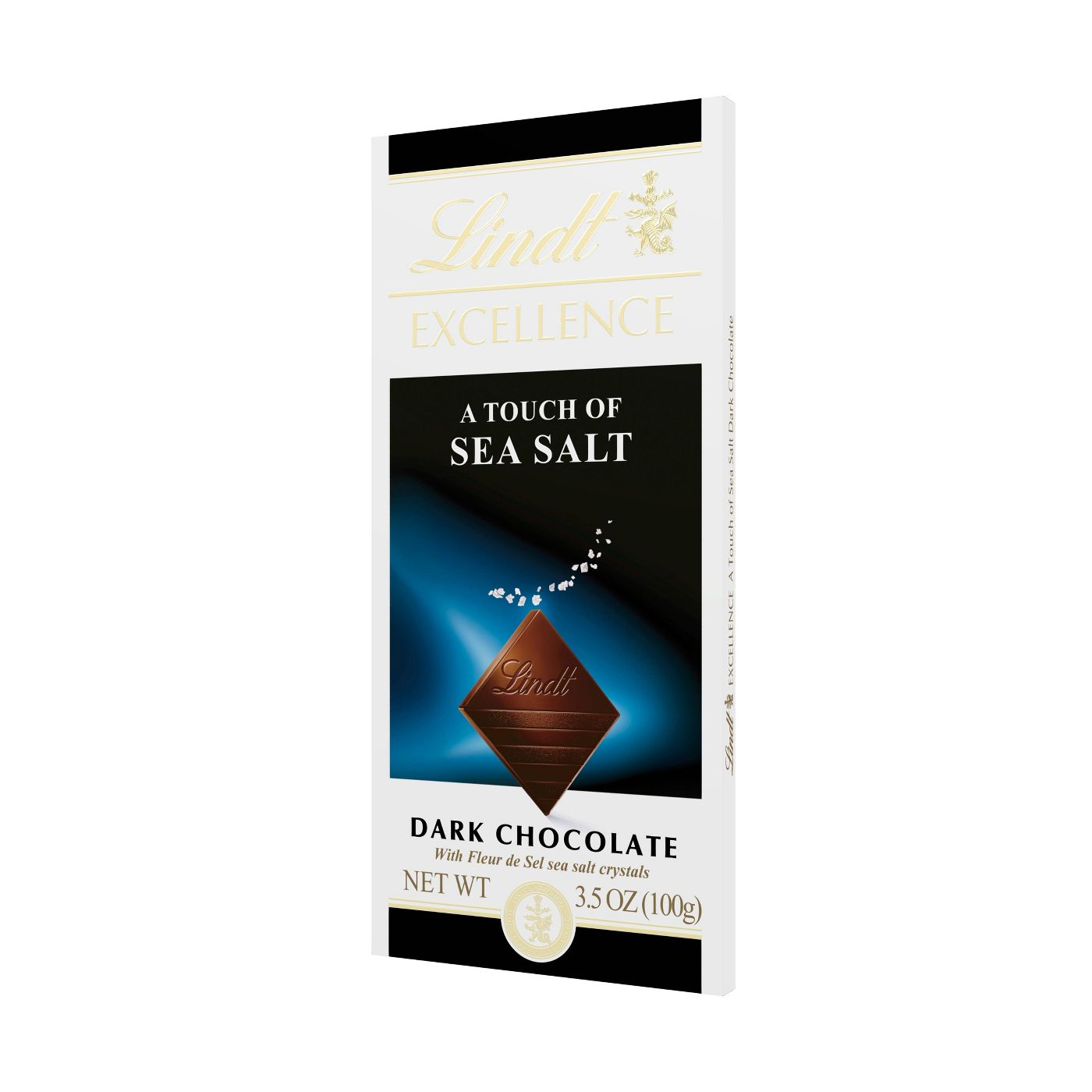 Lindt Excellence Sea Salt Dark Chocolate Bar, 3.5oz
