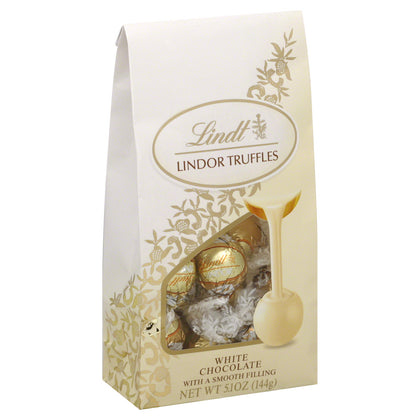 Lindt Lindor White Chocolate Truffles, 5.1oz