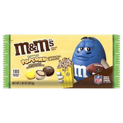 M&M'S Milk Chocolate Popcorn Candy, 1.35oz