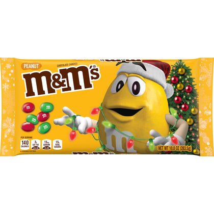 M&M's Christmas Holiday Peanut Chocolate Candy, 10oz