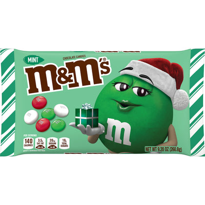 M&M's Holiday Mint Milk Chocolate Candy, 9.2oz