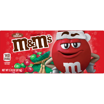 M&M's Holiday Milk Chocolate Candy, Theater Box, 3.1oz