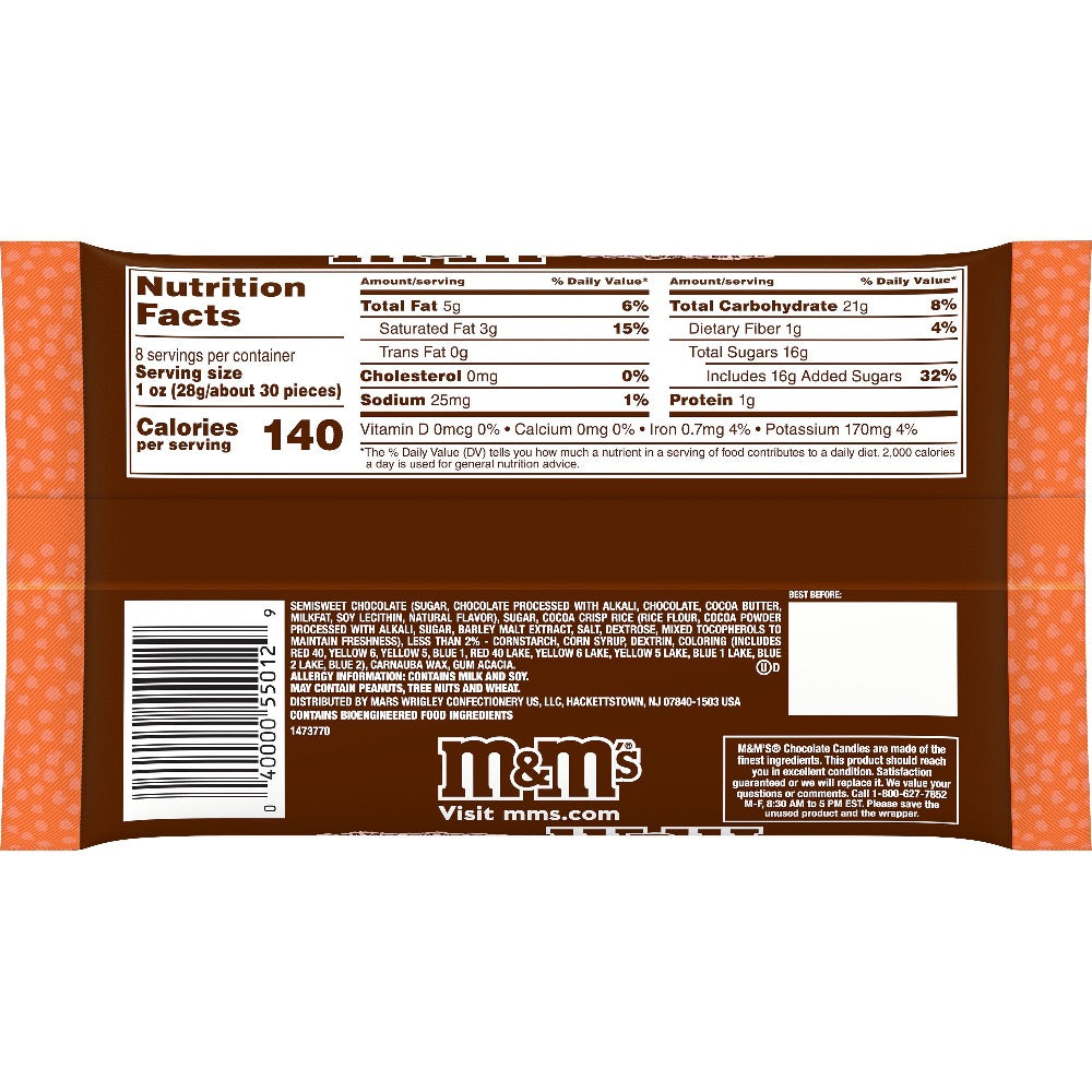 M&M'S Creepy Cocoa Crisp, Halloween Dark Chocolate Candy, 8oz