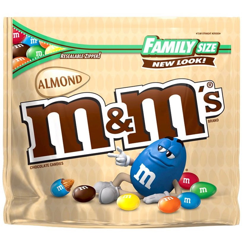 M&M's Almond Chocolate Candies, Family Size, 15.9oz