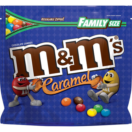 M&M's Milk Chocolate Covered Caramel Candies, Family Size, 18.4oz