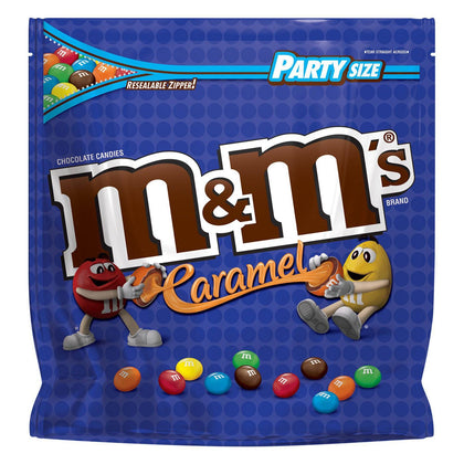M&M's Milk Chocolate Covered Caramel Candies, Party Size, 34oz