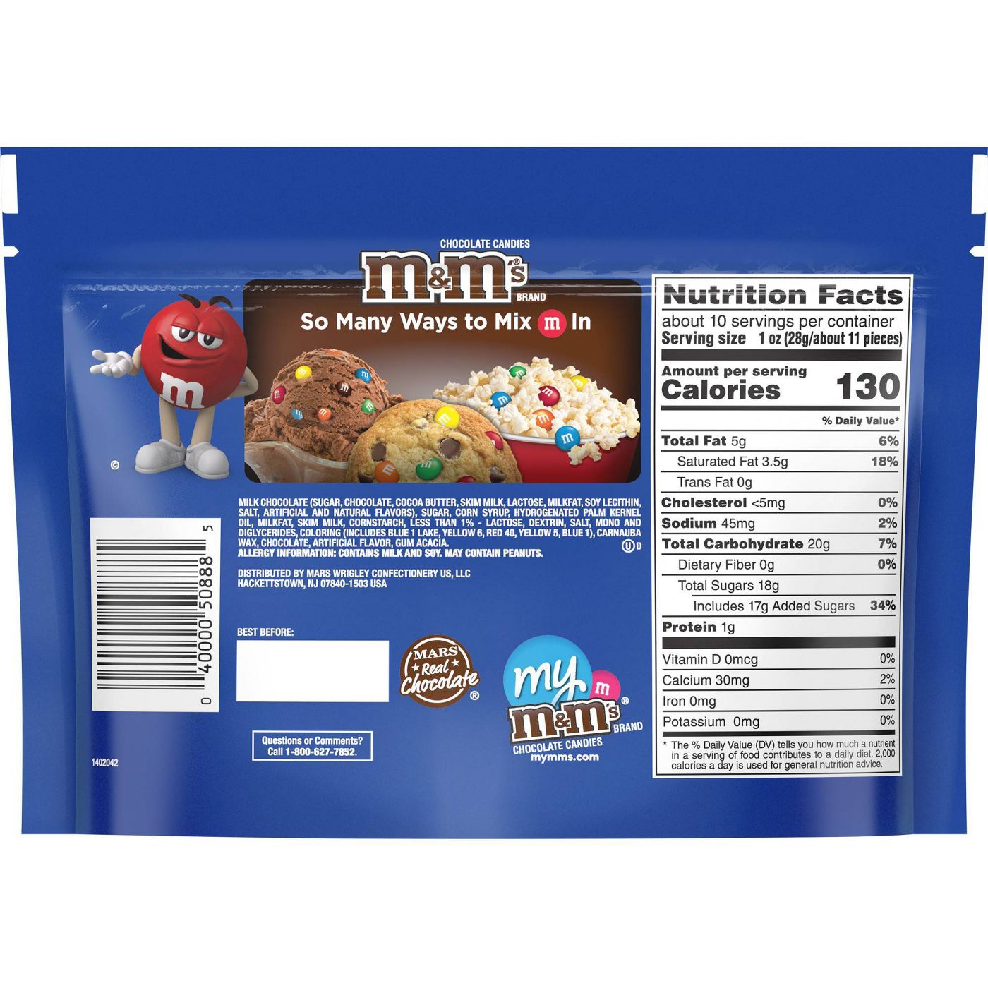 M&M's Milk Chocolate Covered Caramel Candies, Sharing Size, 9.6oz