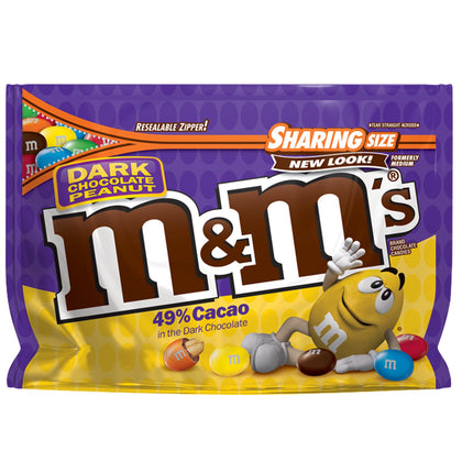 M&M'S Peanut Dark Chocolate Candy, Sharing Size, 10.1oz