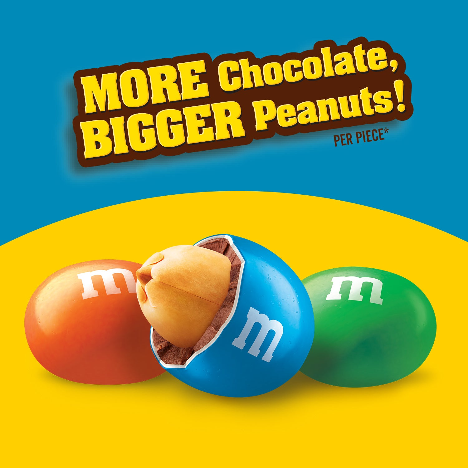 M&M's Mega Peanut Chocolate Candy, Sharing Size, 9.6oz