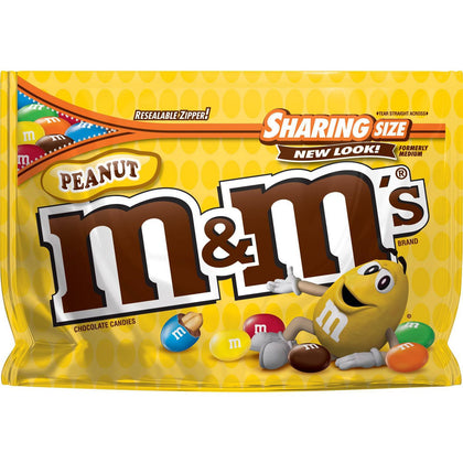 M&M's Peanut Chocolate Candies, Sharing Size, 10.7oz