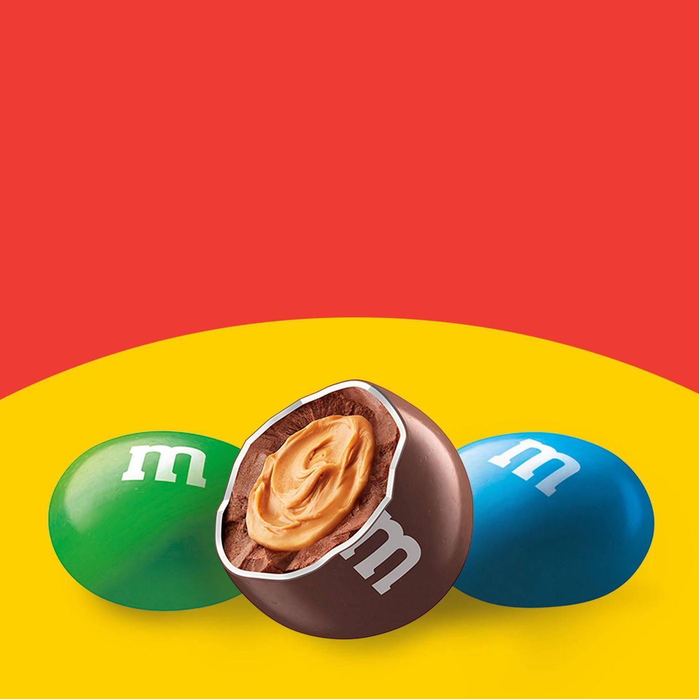 M&M's Peanut Butter Chocolate Candies, Family Size, 18.4oz