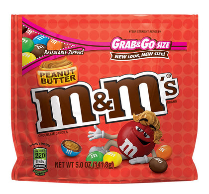 M&M's Peanut Butter Grab & Go Chocolate Candies, 5oz