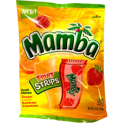 Mamba Fruit Chew Strips, 6.3oz