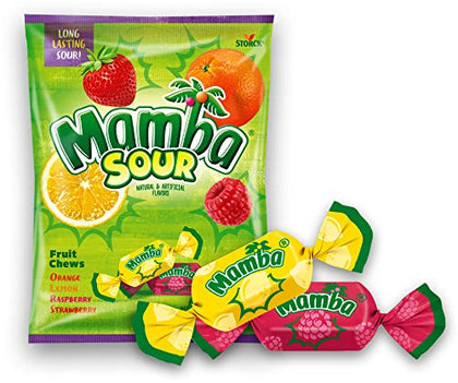 Mamba Sours Fruit Chews, 7.05oz Peg Bag