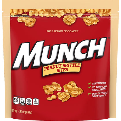 Munch Peanut Brittle Bites, 14.8oz