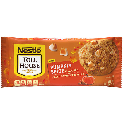 Nestle Toll House Pumpkin Spice Flavored Filled Baking Truffles, 9oz