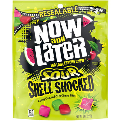 Now and Later Sour Shell Shocked Candy Coated Chews, 8oz