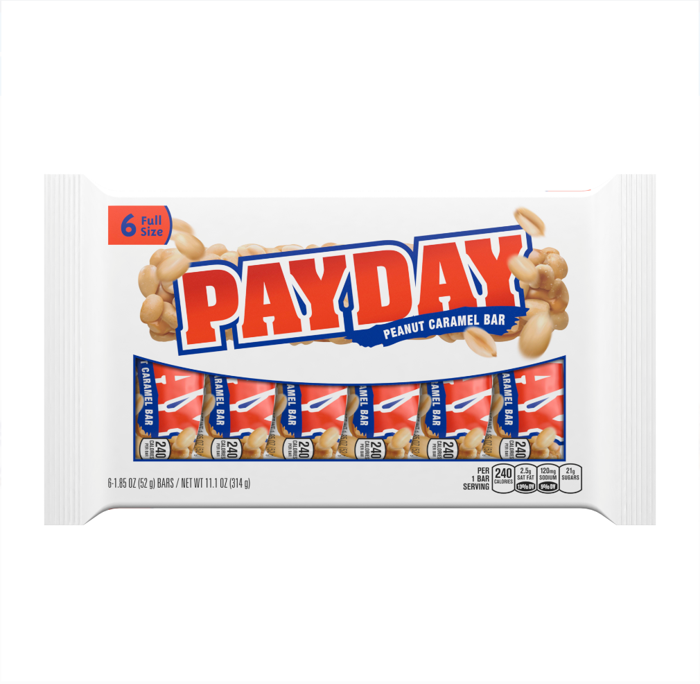 Payday Candy Bars, 6ct, 11.1oz