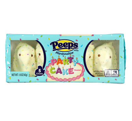 Peeps Marshmallow Chicks, Party Cake, 1.5oz/5ct
