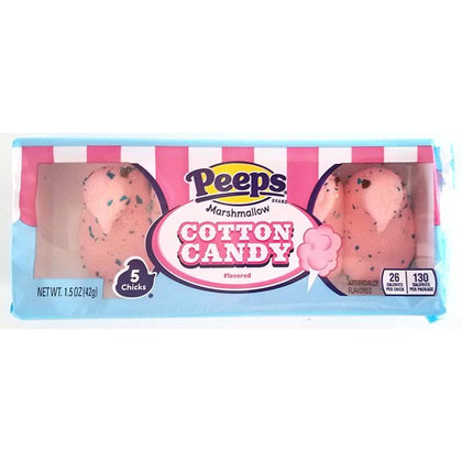 Peeps Marshmallow Chicks, Cotton Candy, 1.5oz/5ct