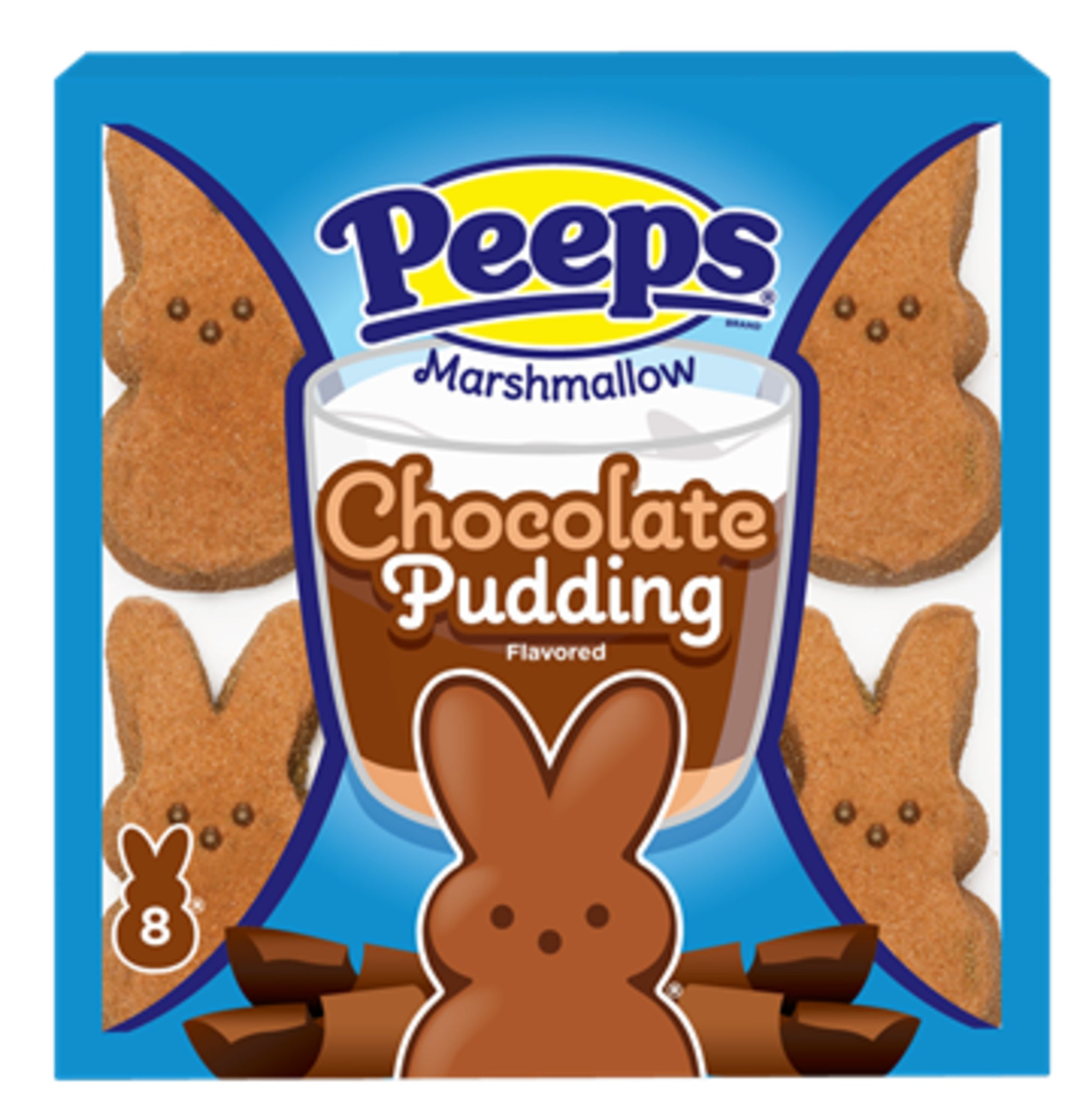 Peeps Marshmallow Chocolate Pudding Bunnies, 8ct, 3oz