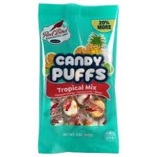 Red Bird Tropical Mix Candy Puffs, 5oz