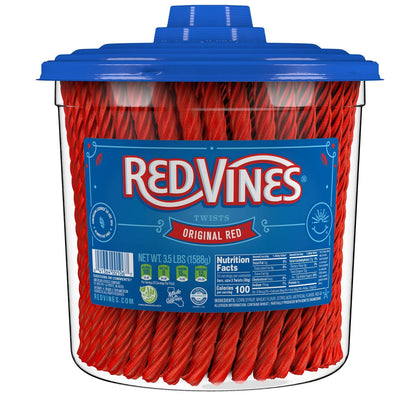 Red Vines Twists Original Red Licorice Candy, 3.5lbs
