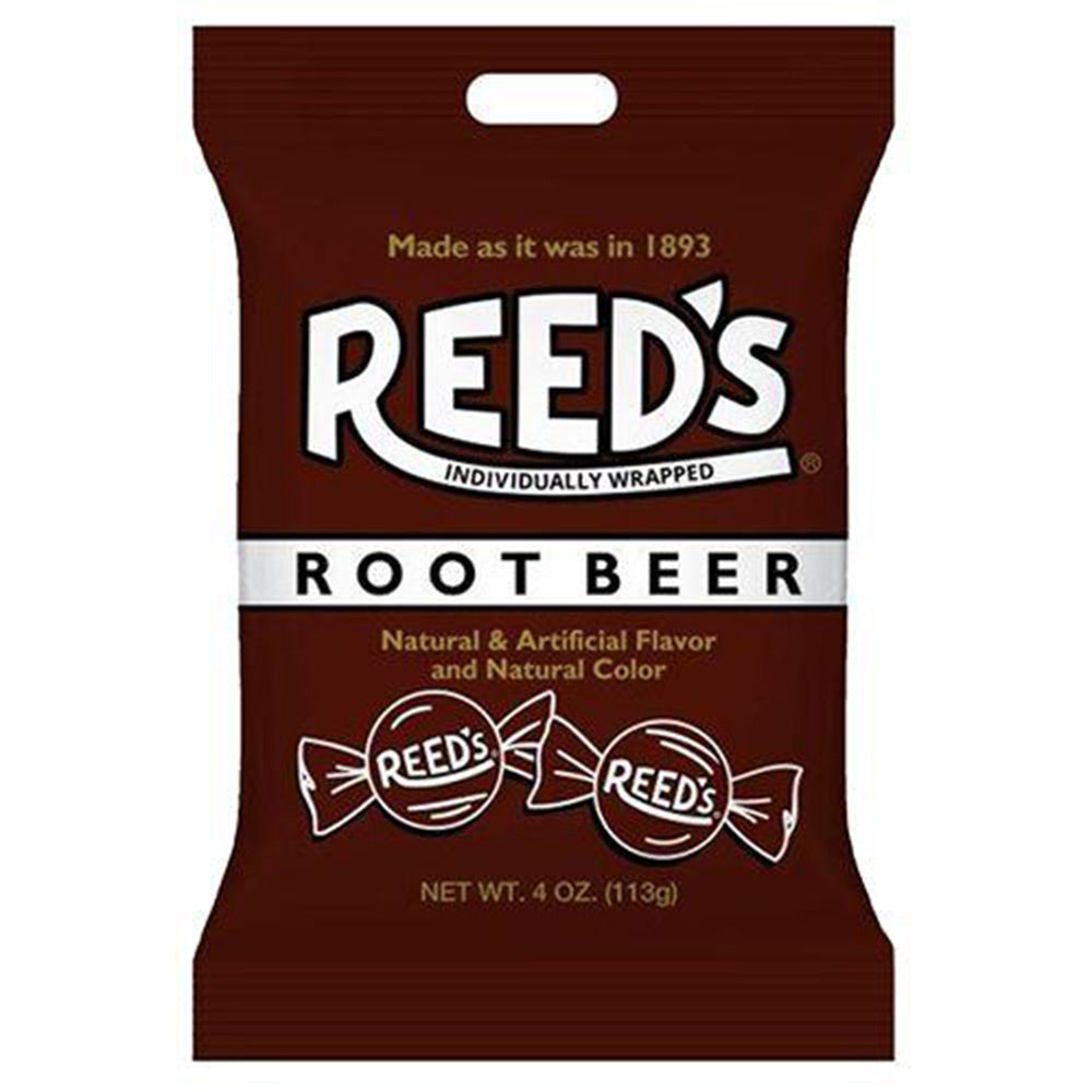 Reed's Root Beer Hard Candies, Individually Wrapped, 4oz