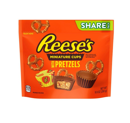 Reese's Miniature Cups with Pretzels, 9.9oz
