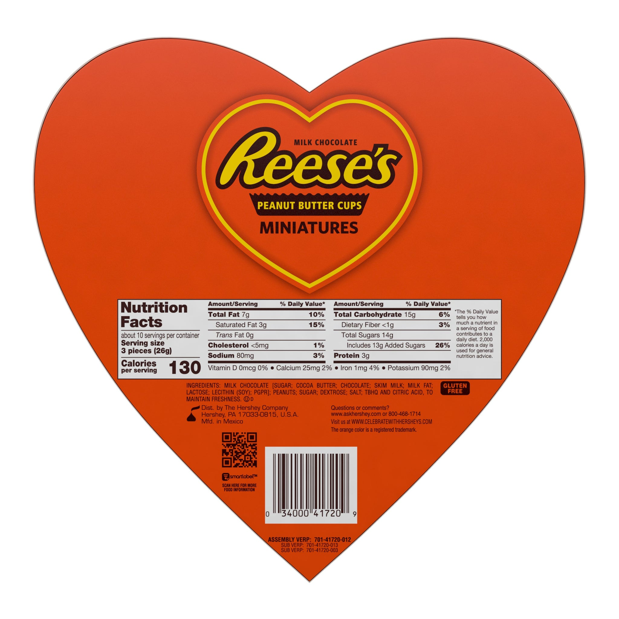 Reese's Miniatures Valentine's Heart Box, 9.3oz