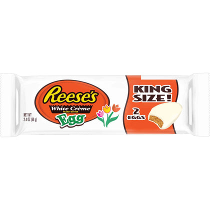 Reese's White Creme Peanut Butter Eggs, King Size, 2.4oz