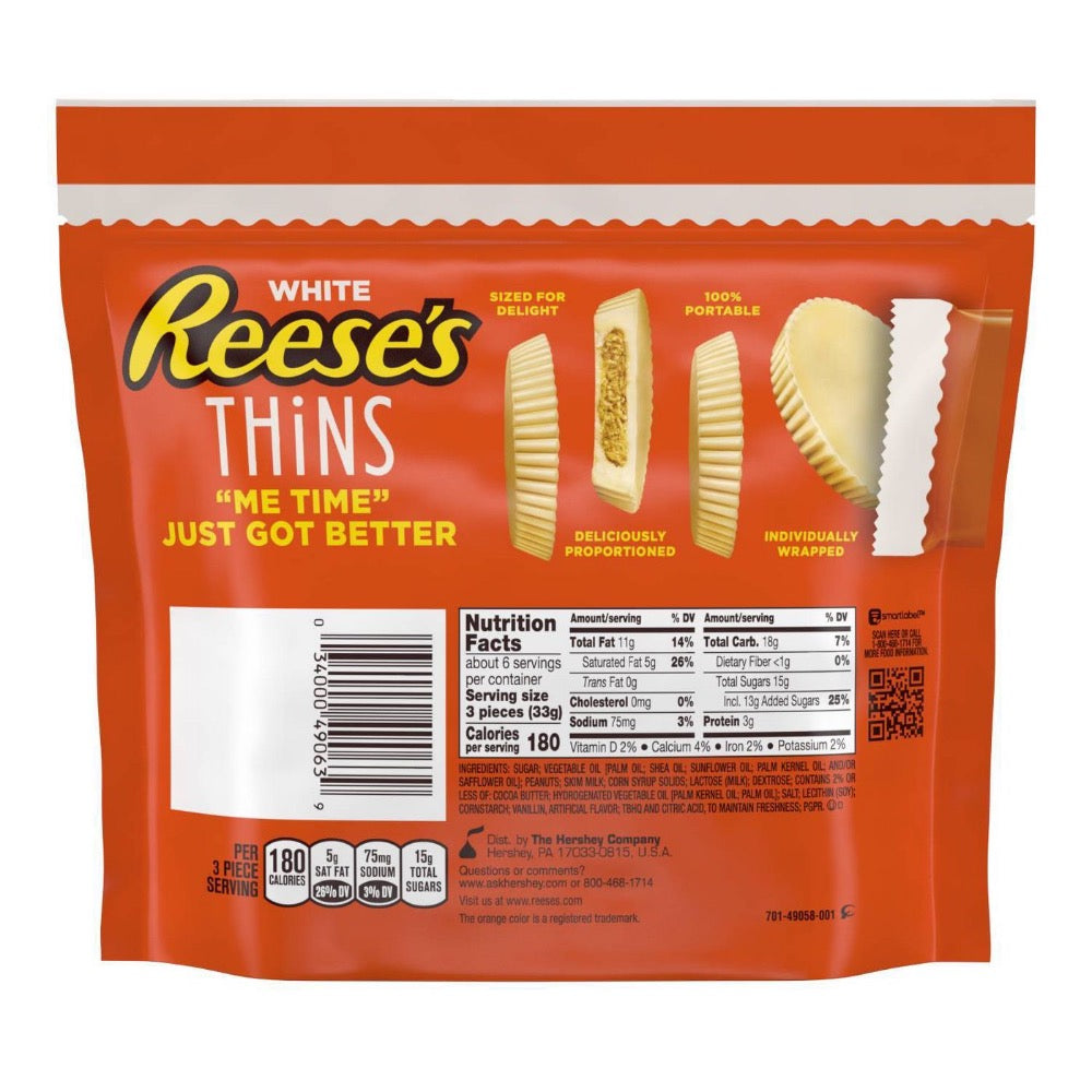 Reese's Thins White Créme Peanut Butter Cups, Share Pack, 7.37oz