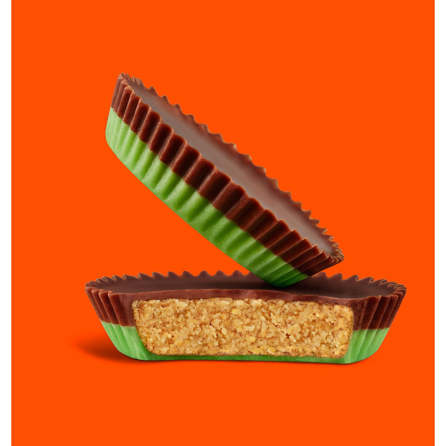 Reese's Franken-Cup Peanut Butter Cup with Halloween Green Creme, 1.2oz, 24pk