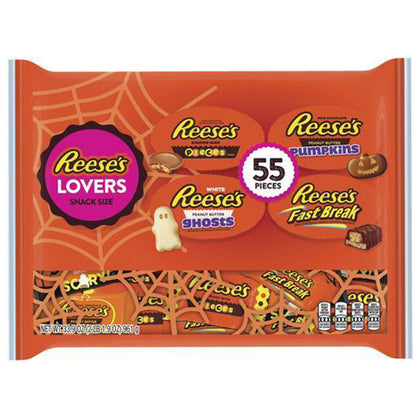 Reese's Lovers Halloween Snack Size Assortment, 55 Pieces, 33.9oz