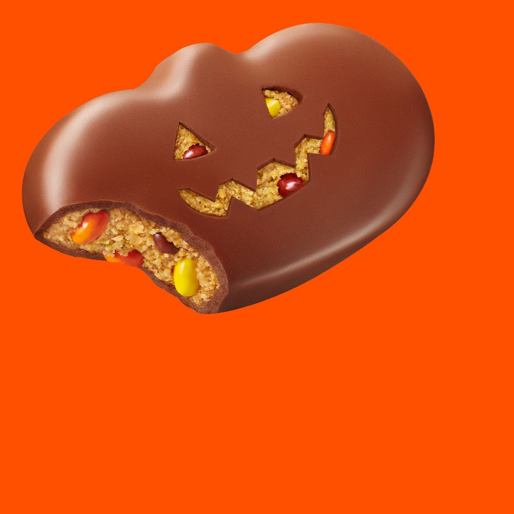Reese's Halloween Milk Chocolate Peanut Butter with Pieces Pumpkins, 2.2oz
