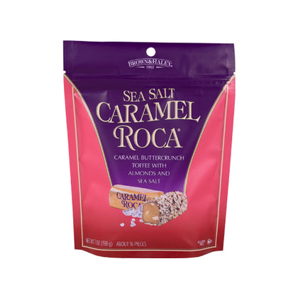 Brown & Haley Roca, Sea Salt Caramel Toffee with Almonds, 7oz