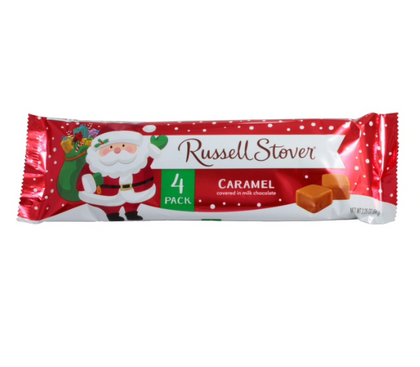 Russell Stover Chocolate Covered Caramel Candies, 4ct, 2.25oz