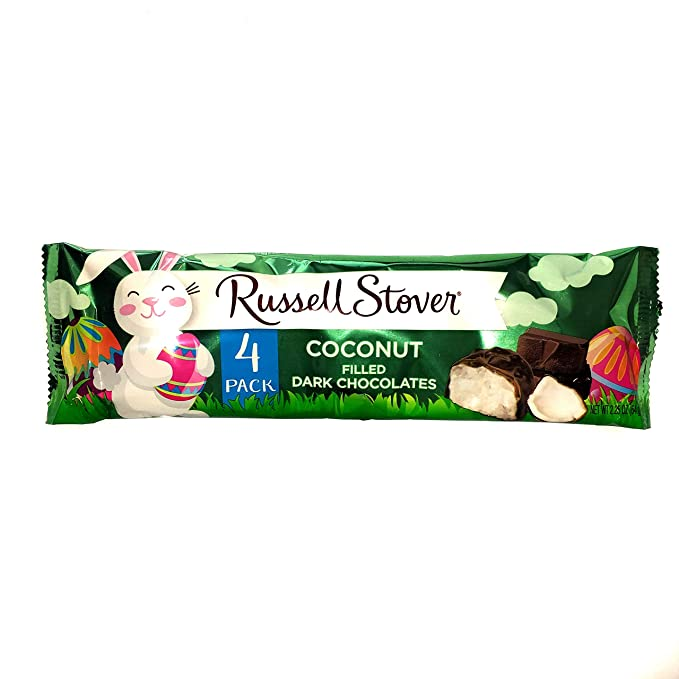 Russell Stover Easter Coconut Filled Dark Chocolates, 2.25oz