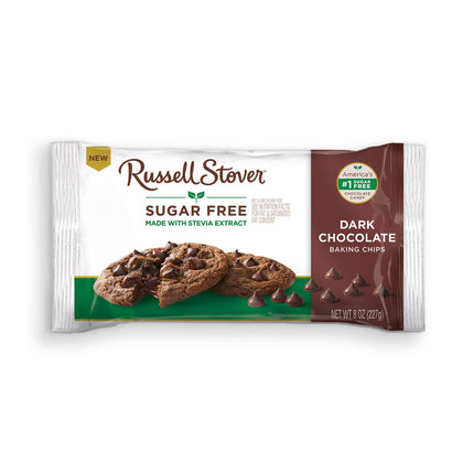 Russell Stover Sugar Free Dark Chocolate Baking Chips, 8oz