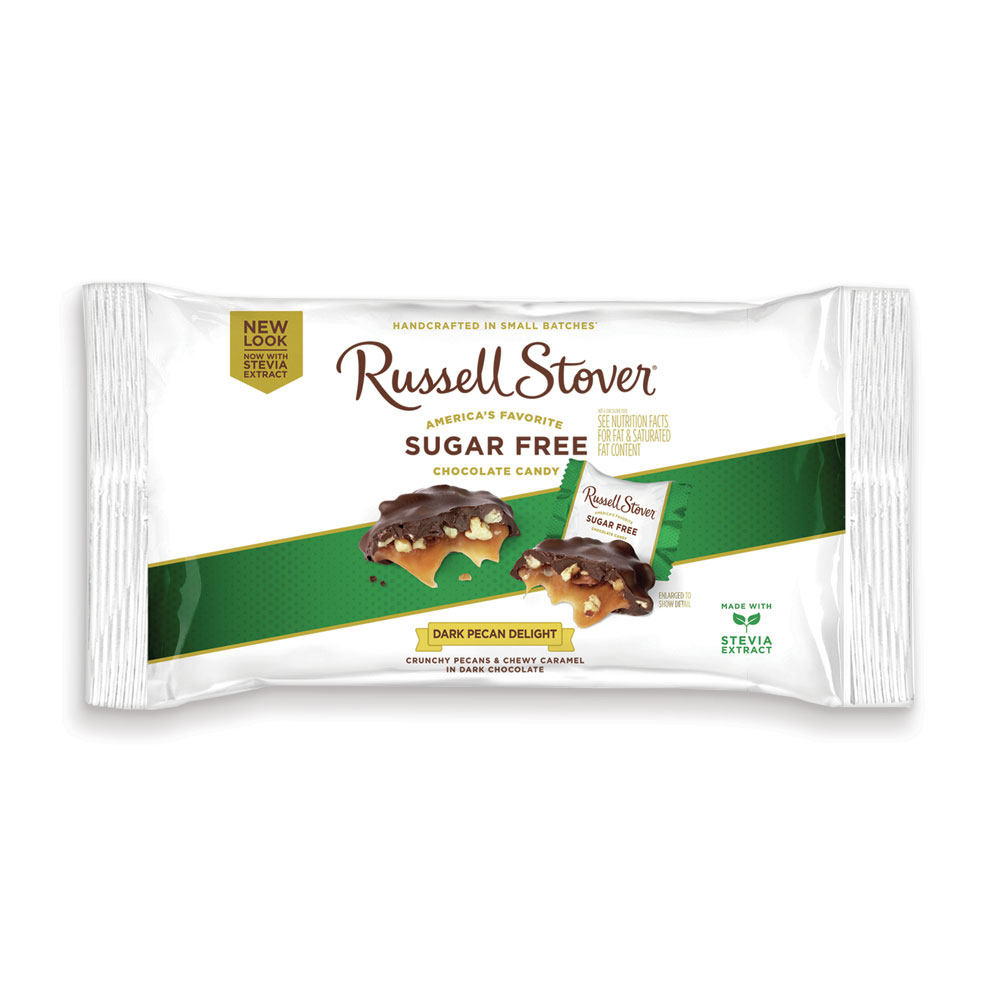 Russell Stover Sugar-Free Dark Chocolate Pecan Delights, 10 Oz