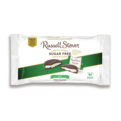 Russell Stover Sugar Free Mint Patties Covered in Dark Chocolate, 10 oz