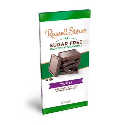 Russell Stover Sugar Free Dark Chocolate Truffle, 3oz Bar
