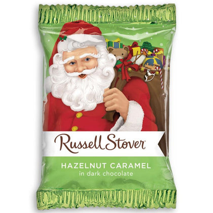 Russell Stover Hazelnut Caramel Santa in Dark Chocolate, 1oz