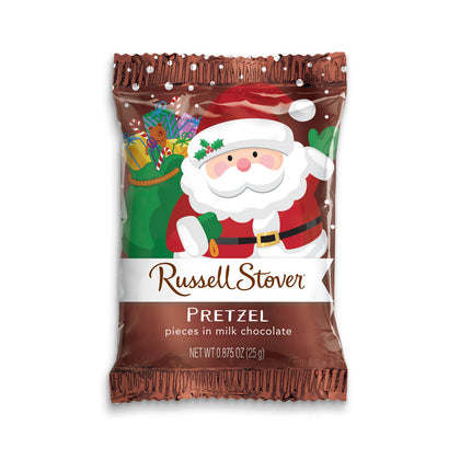 Russell Stover Pretzel Pieces in Milk Chocolate Santa, .875oz