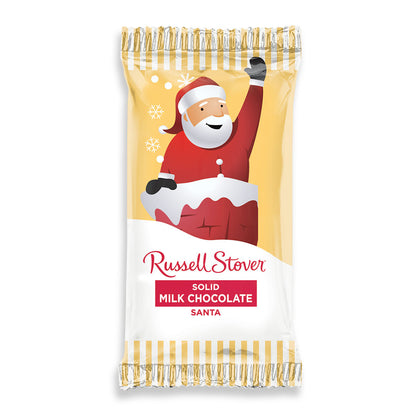 Russell Stover Solid Milk Chocolate Santa, 7/8oz