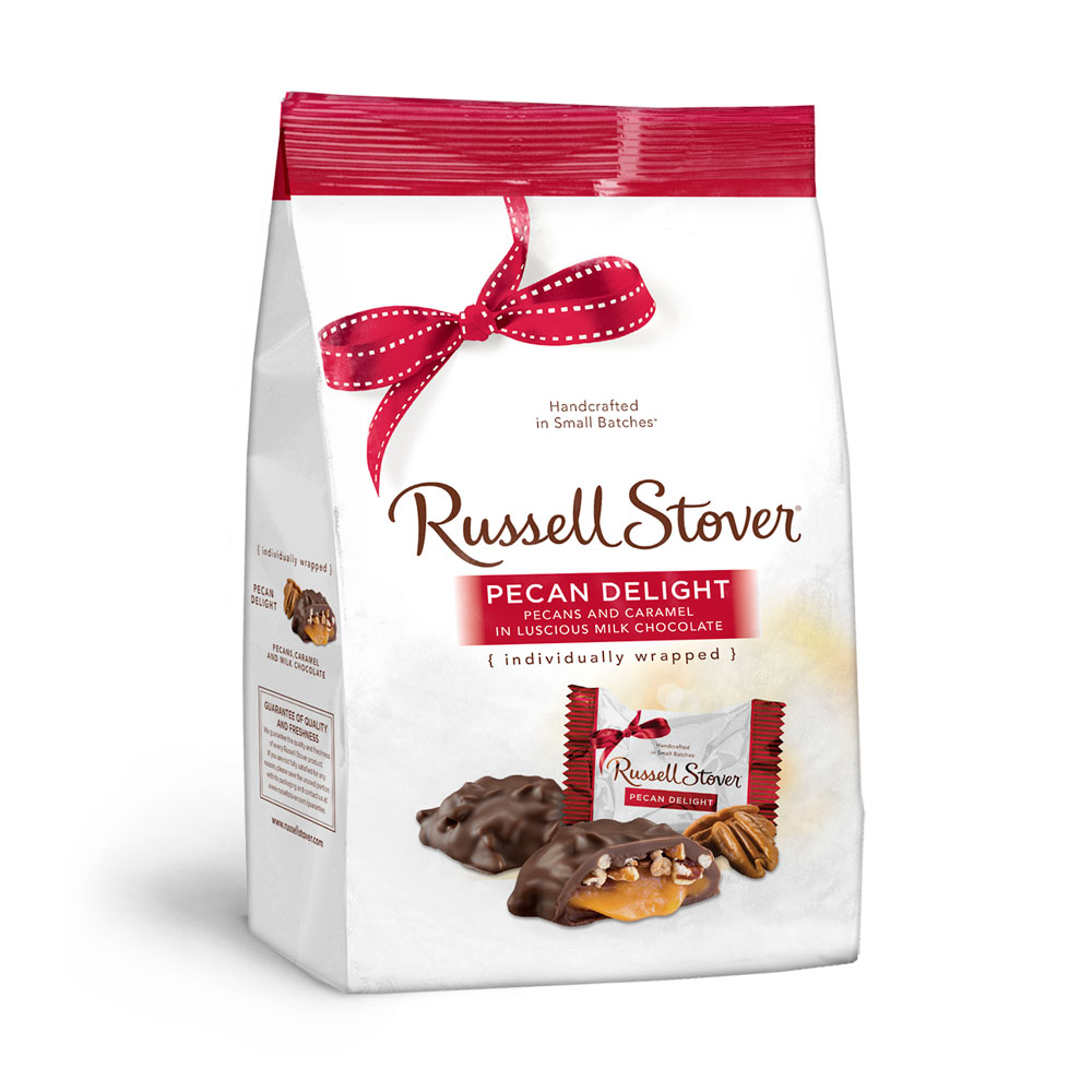 Russell Stover Pecan Delight, Pecans and Caramel in Milk Chocolate, 16.1oz