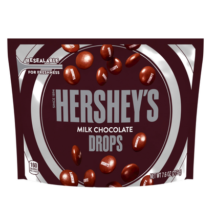 Hershey's Drops, Milk Chocolate, 7.6oz Resealable Bag