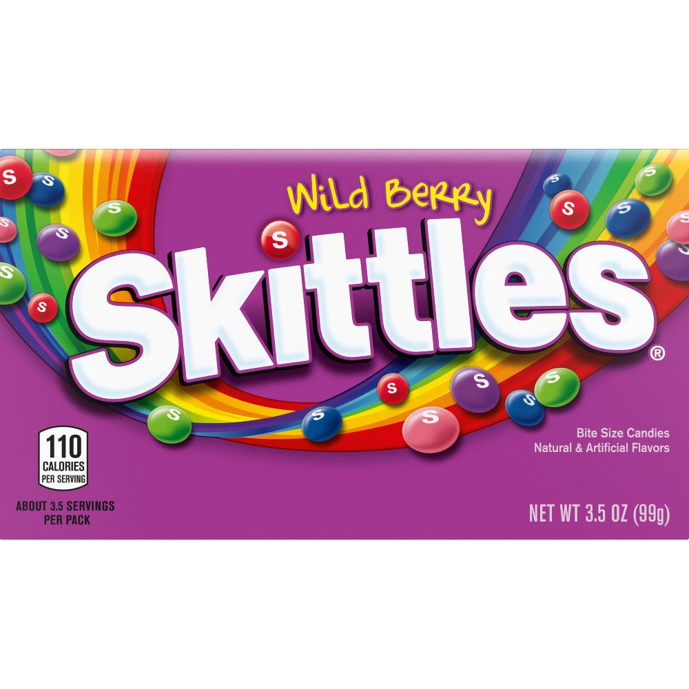 Skittles Wild Berry Bite Size Candies, 3.5oz